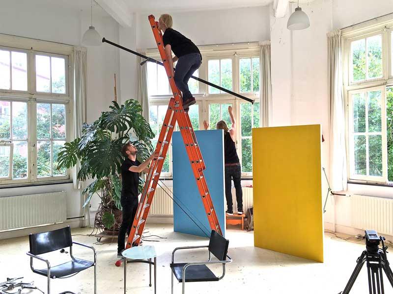 Filmploeg voor Vincent op Vrijdag bij Atelier de Kraamkamer
